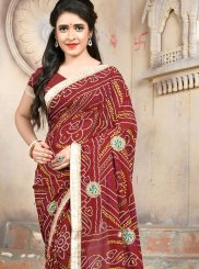 Maroon Color Casual Saree