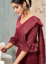 Maroon Color Casual Saree