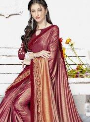Maroon Color Classic Designer Saree
