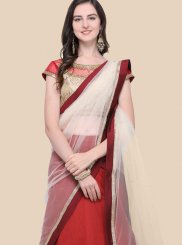Maroon Embroidered Lehenga Choli