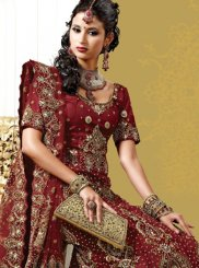 Maroon Fancy Lehenga Choli