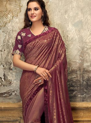 Maroon Fancy Wedding Designer Saree