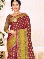 Maroon Festival Traditional Designer Saree