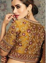 Maroon Mehndi Classic Saree