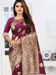 Maroon Party Classic Saree