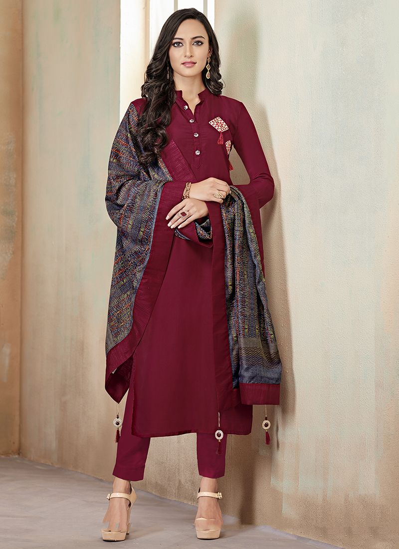 Maroon Readymade Suit
