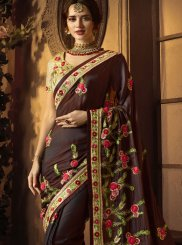 Maroon Resham Designer Traditional Saree