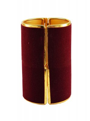 Maroon Stone Work Reception Bangles