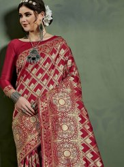 Maroon Weaving Art Silk Designer Traditional Saree