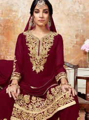 Maroon Wedding Designer Pakistani Suit