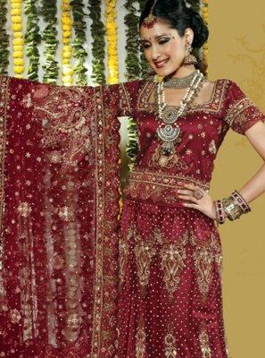 Maroon Wedding Lehenga Choli