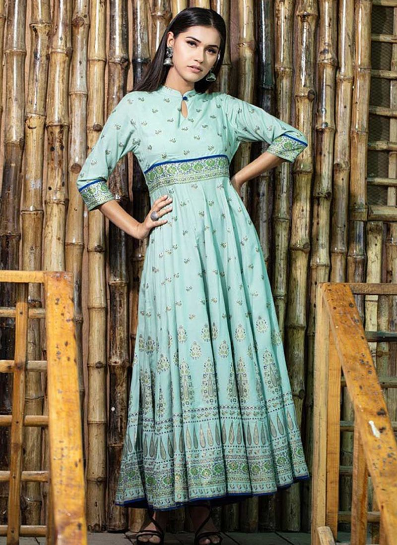 Maslin Cotton Party Trendy Gown