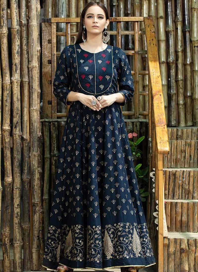 Maslin Cotton Trendy Gown