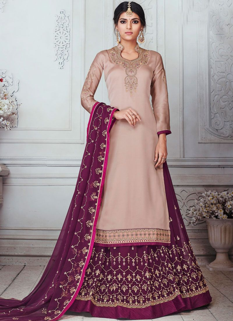 Mauve  Embroidered Wedding Designer Lehenga Choli
