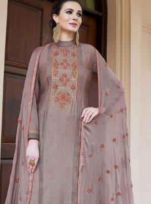 Mauve  Fancy Fabric Designer Pakistani Suit