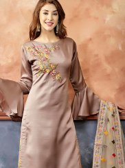 Mauve  Fancy Fabric Festival Readymade Suit
