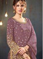 Mauve  Festival Designer Patiala Salwar Kameez