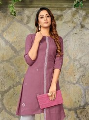 Mauve  Festival Party Wear Kurti