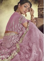Mauve  Patch Border Lehenga Choli
