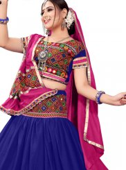 Mirror Cotton A Line Lehenga Choli
