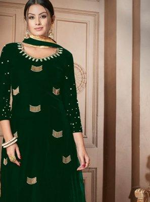 Moti Green Designer Salwar Suit