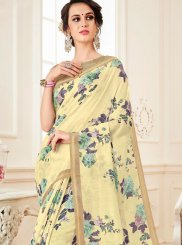 Multi Colour Abstract Print Casual Casual Saree