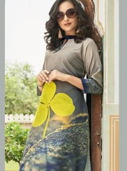 Multi Colour Abstract Print Casual Kurti