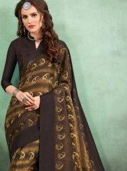 Multi Colour Abstract Print Festival Casual Saree