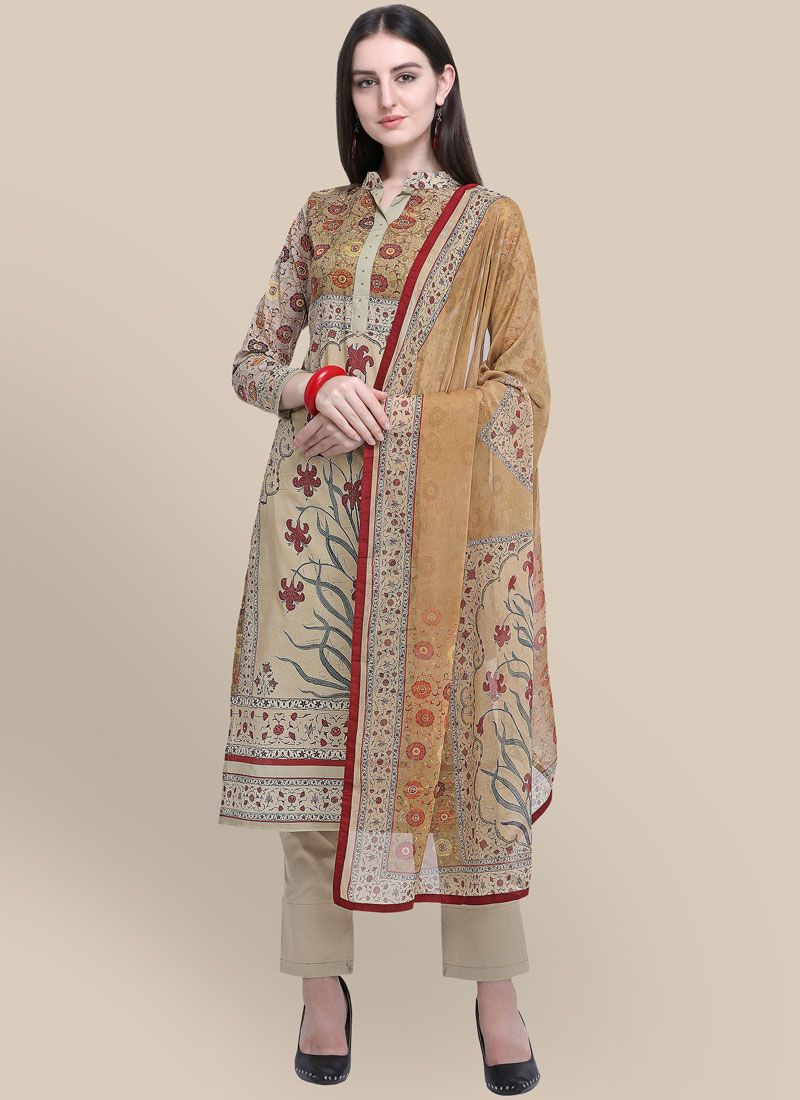 Multi Colour Abstract Print Festival Designer Suit