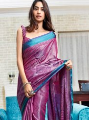 Multi Colour Abstract Print Printed Saree