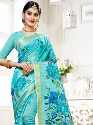 Multi Colour Abstract Print Traditional Saree
