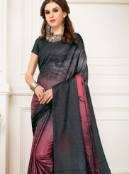 Multi Colour Art Silk Abstract Print Printed Saree