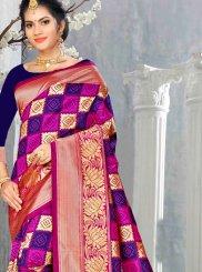 Multi Colour Art Silk Designer Traditional Saree