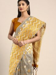 Multi Colour Art Silk Festival Designer Traditional Saree