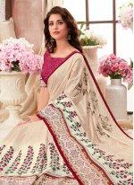 Multi Colour Art Silk Festival Printed Saree