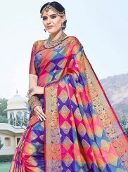 Multi Colour Art Silk Festival Traditional Designer Saree