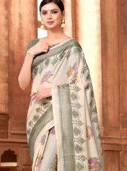 Multi Colour Art Silk Printed Saree