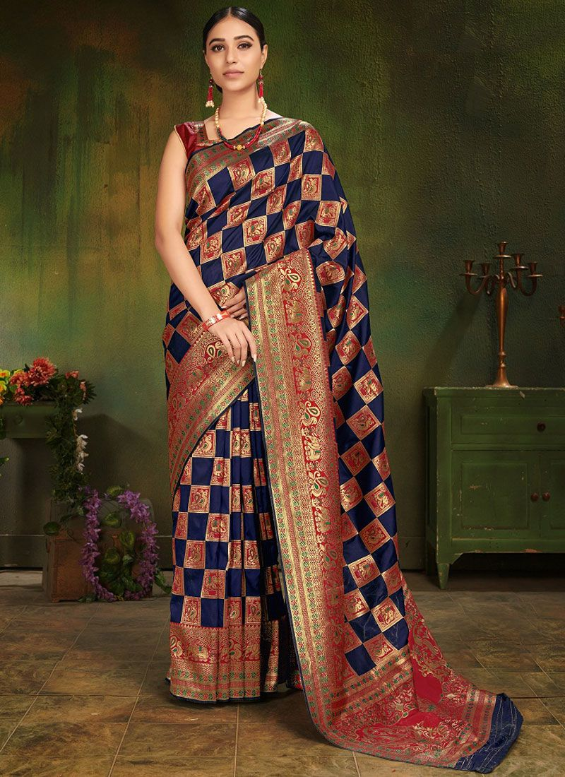 Multi Colour Art Silk Traditional Designer Saree
