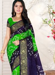 Multi Colour Bandhej Art Silk Casual Saree