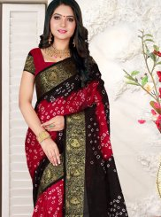 Multi Colour Bandhej Casual Saree