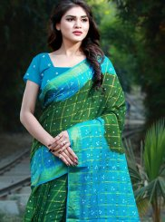 Multi Colour Bandhej Cotton Casual Saree