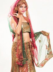 Multi Colour Bridal Lehenga Choli