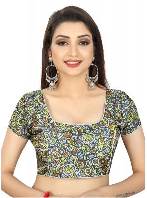 Multi Colour Brocade Reception Designer Blouse