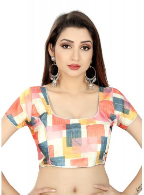 Multi Colour Brocade Weaving Designer Blouse
