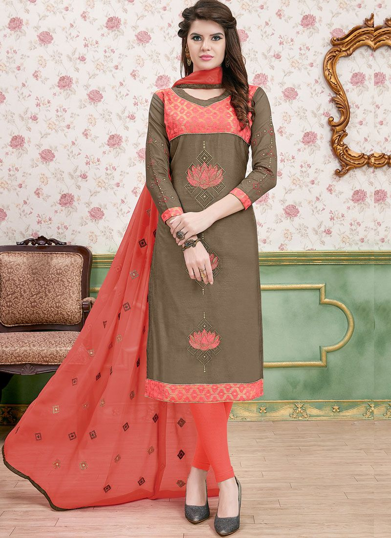 Multi Colour Casual Churidar Salwar Kameez