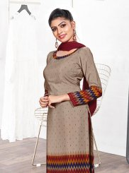 Multi Colour Casual Crepe Silk Churidar Suit