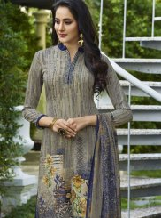 Multi Colour Casual Faux Crepe Palazzo Suit