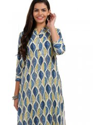 Multi Colour Casual Rayon Casual Kurti