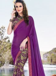 Multi Colour Casual Satin Printed Saree
