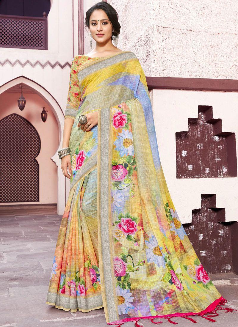 Multi Colour Casual Trendy Saree